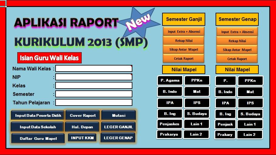 Aplikasi Nilai dan Raport Kurtilas Plus Deskripsi Memudahkan dalam Pengisian